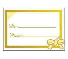 Etiqueta De:/Para  Ouro pct c/ 100 un Cromus