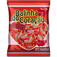 Balinha Coração sabor Morango 500g Florestal