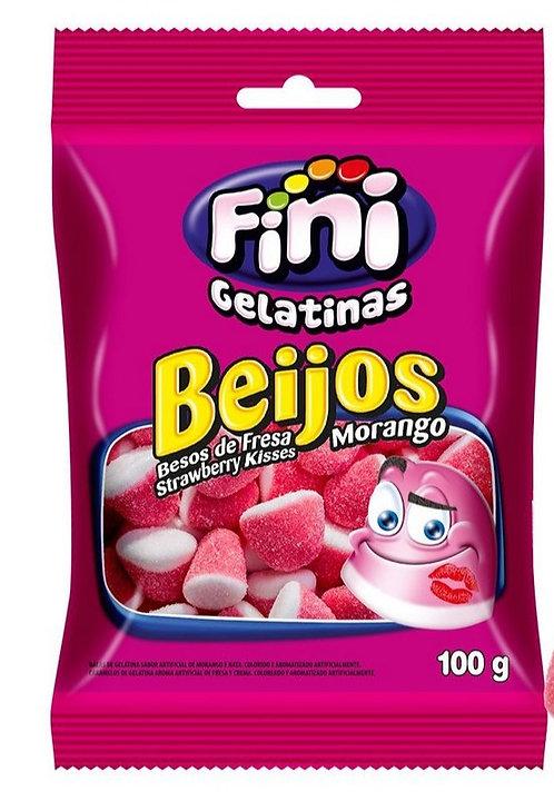 Bala Beijos De  Morango 100g - Fini