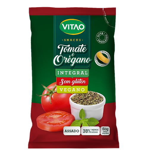 Snacks Integral de Tomate e Orégano - 60g Vitao