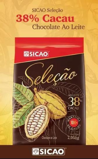 Chocolate Sicao Seleção Ao Leite 38% Cacau 2,05kg