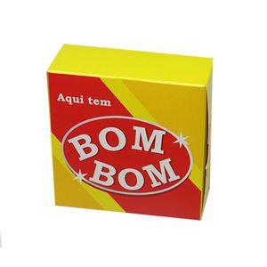 Caixa Divertida p/6 Brigadeiros Aqui Tem Bombom  12x8x3,5 Pacote c/10 un. Carber