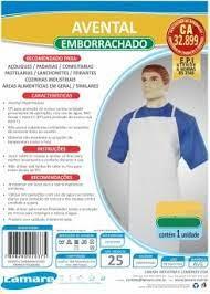 Avental Emborrachado Branco Grande - 110X63cm - CA 32899 Lamare