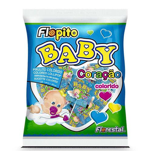 Pirulito Baby Coração Colorido 200g Florestal
