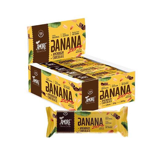 Banana + Amendoim + Chocolate Display com 12 unidades de 25g Amore