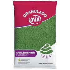 Confeito Granulado Macio Verde 500g Mix