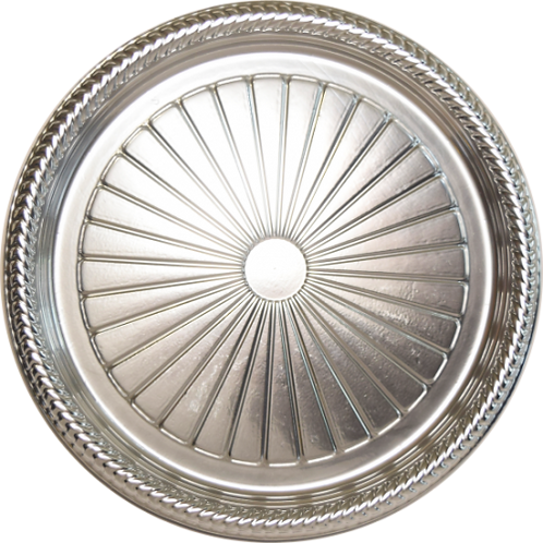 Bandeja B40 Prata - 24,6 X 1,5 -  Neoform