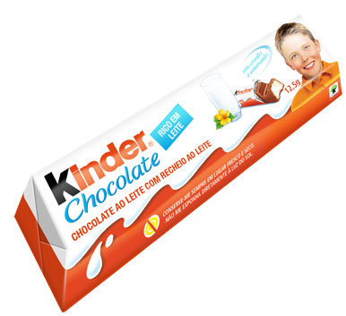 Kinder Chocolate 50g com 4 barrinhas