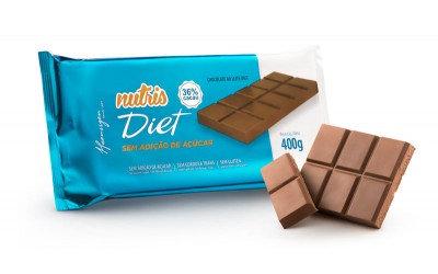 BARRA Chocolate Diet 36% Cacau ao Leite 400g Nutris - Haenssgen