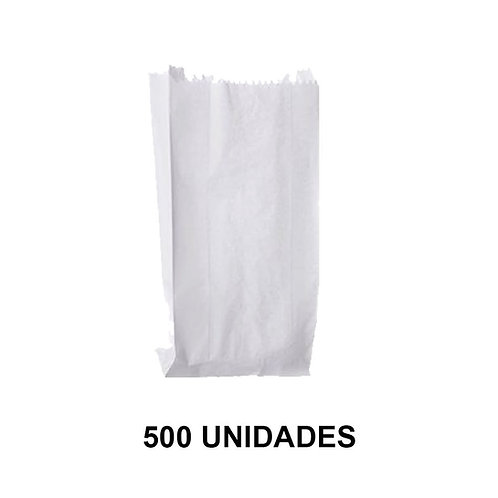 Saco Branco p/ Pipoca 25x19cm Valepel - Pct c/ 500un