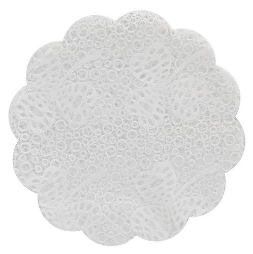 Fundo para doce branco rendado c/ 7cm - Emb c/ 100 un Confesta