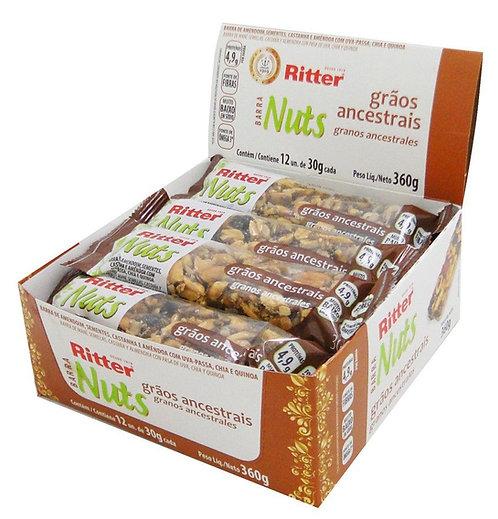 Barra de Nuts Ritter Sementes Grãos Ancestrais com 12un de 30g