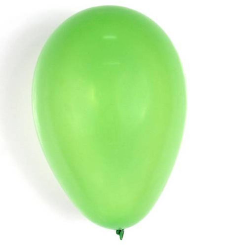 Balão N°7 Verde Maçã - Pacote com 50un - Balões São Roque