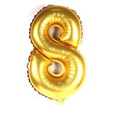 Balão Metalizado Dourado N°8-  40cm - Funny Fashion