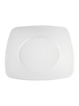 Pratos Plásticos Branco 21cm x 21cm Plazapel com 10 un