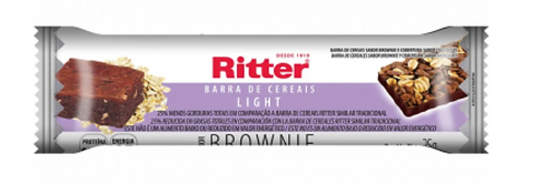 Cereal em Barra Sabor Brownie Chocolate Light Unidade- Ritter