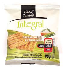 Biscoito Integral  Salgado Cream Cheese e Cebolinha 80g Petit Sable