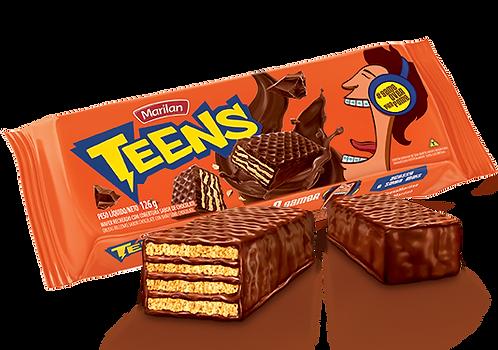 Biscoito Coberto Teens Chocolate 126g Marilan