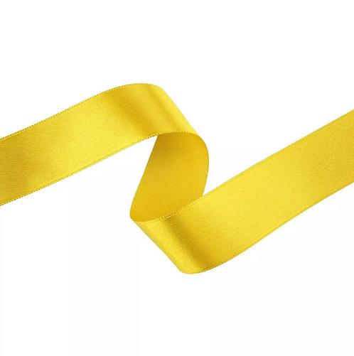 Fita de Cetim Liso  Amarelo Canário 2,3 cm c/ 10 mt Cromus