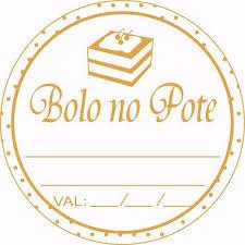 "Etiqueta ""Bolo no Pote"" c/100 un Cromus"