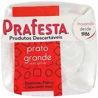 Prato Redondo Grande c/ 10 un. - Cristal PraFesta