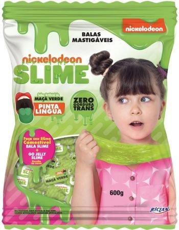 Bala Mastigável Slime Maçã Verde  600g Riclan