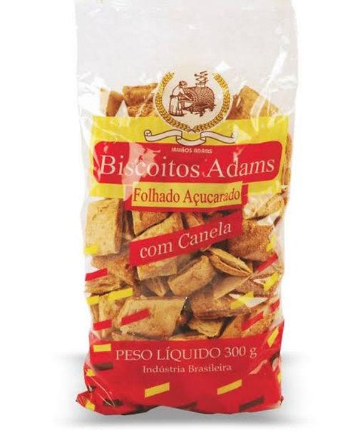 Biscoito Folhado Açuçarado com Canela 300g - Biscoitos Adams
