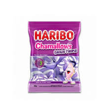 Marshmallow Chamallows Cables Purple 250g Haribo