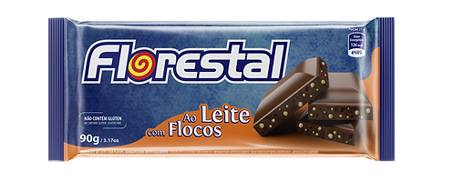 Chocolate Ao Leite com Flocos 90g - Florestal
