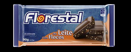 Chocolate Ao Leite com Flocos 90g - Florestal