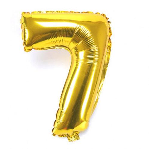 Balão Metalizado Dourado N°7 - 40cm