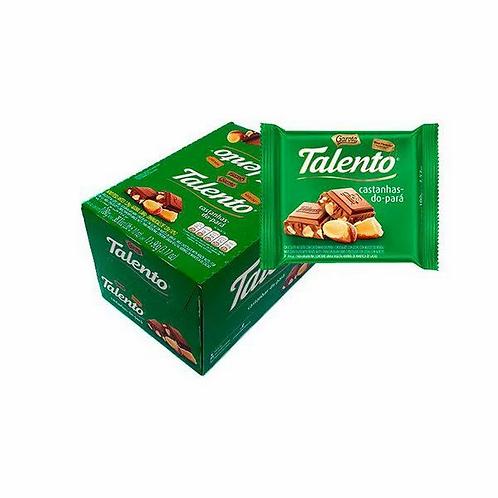 Chocolate Talento Garoto Ao Leite com Castanhas do Pará 28g - Display com 15un