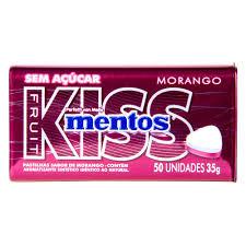 Mentos Kiss Morango 35g Perfetti