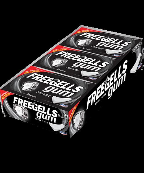 Chicle Freegells Gum Extra Forte Display c/ 15un Riclan