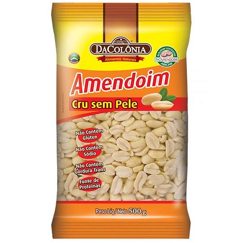 Amendoim Cru sem Pele Da Colônia 500g