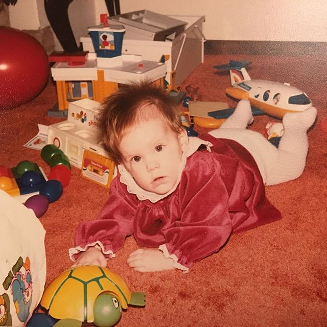 Kerrie as a baby