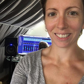 Kerrie getting involved in the production of her songs in her home studio