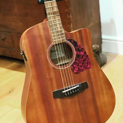 Kerrie's guitar, her Christmas present