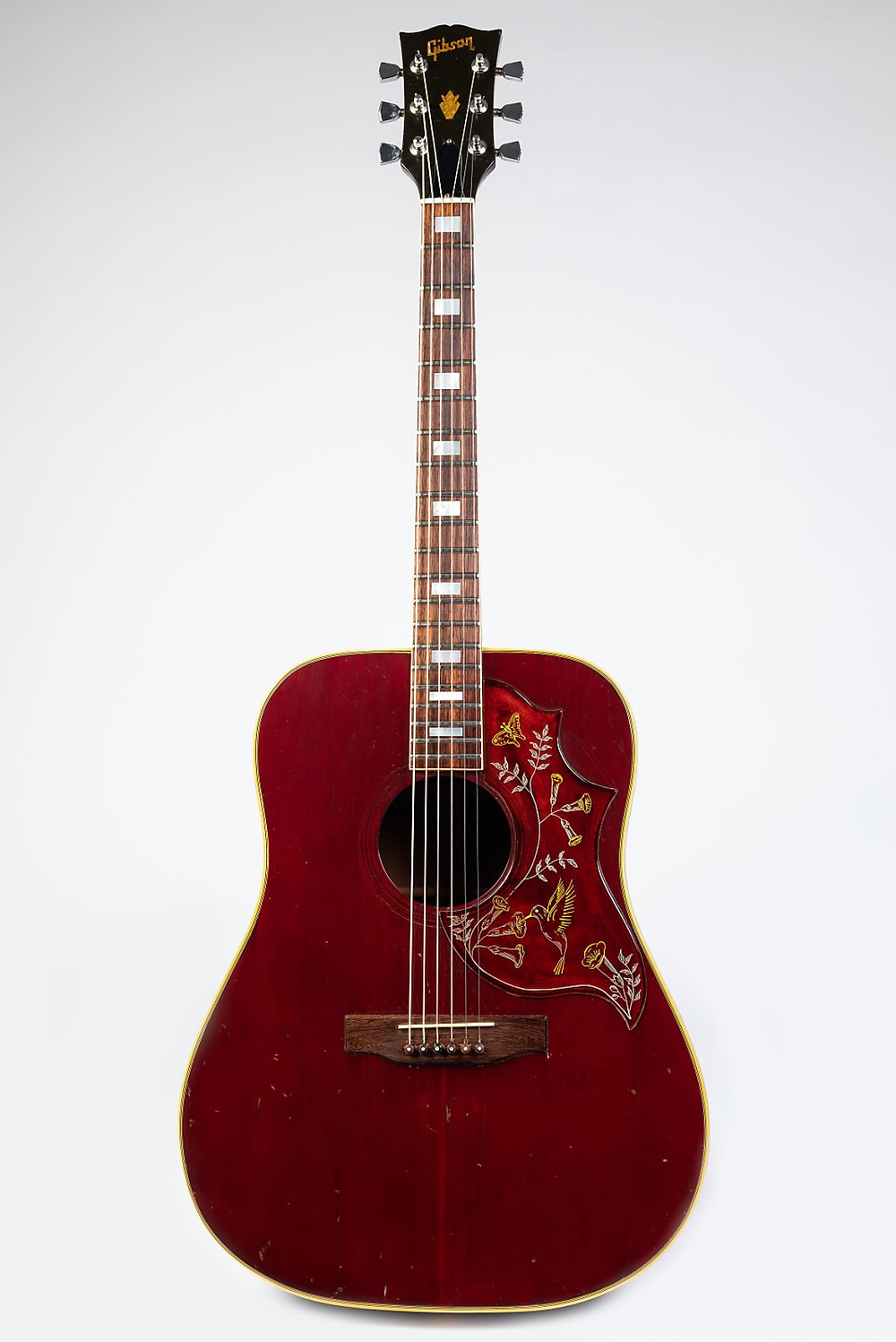 My fabulous 1976 Cherry Red Gibson Hummingbird Acoustic Guitar