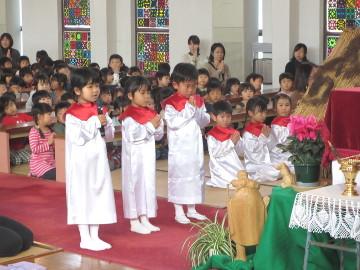 「招きのことば」で、祈りの集いが始まりました。