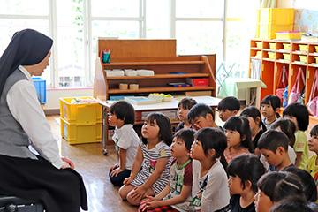 永谷先生が、神さまのお話をしてくださいました。