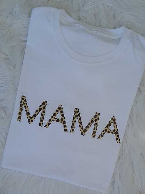 MAMA Straight Print T-shirt