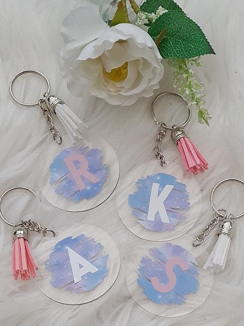 Personalised Pastel Acrylic Keyring