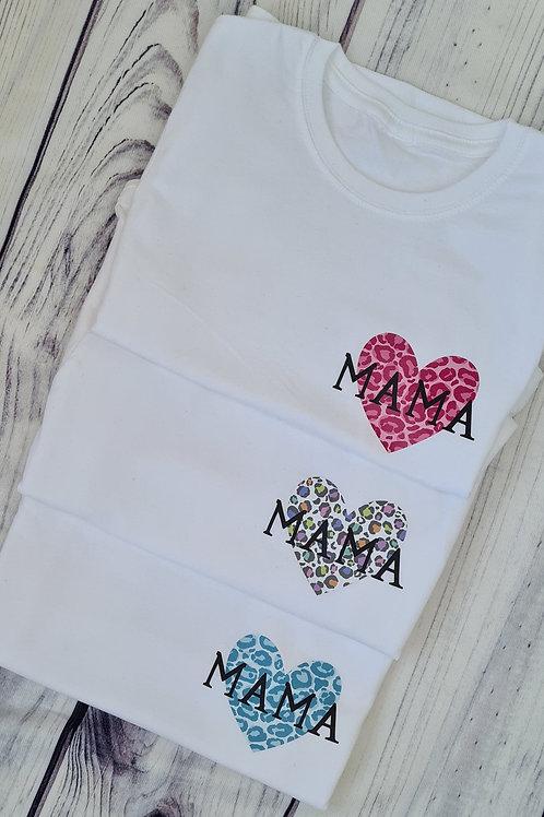 Heart Print  Personalised T-shirt