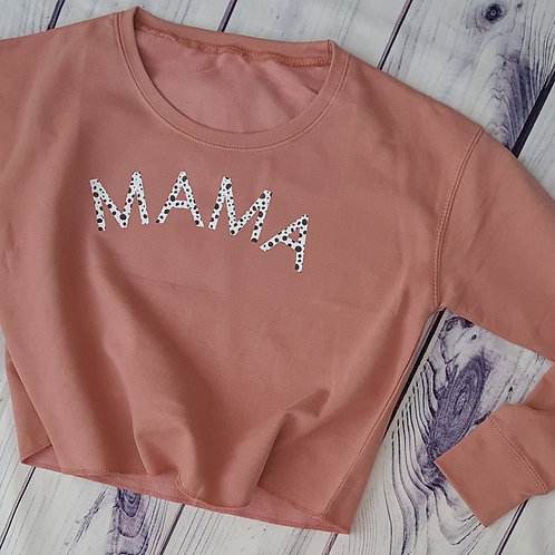 Dusky Pink Cropped Sweater / Hoody