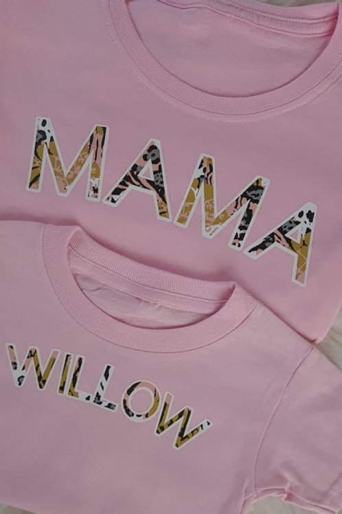 Bubble Print Mama T-Shirt