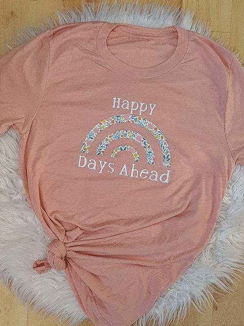 Happy Days Peach T-Shirt