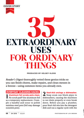 Extraordinary Uses for Ordinary Things J