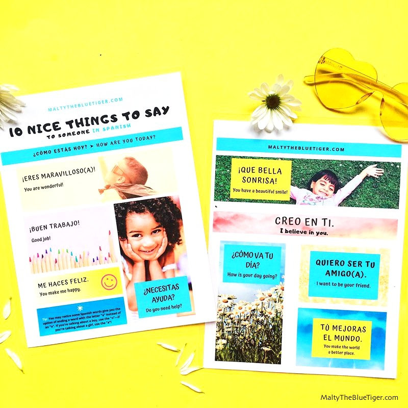compliments in spanish, nice things to say in spanish, spanish phrases, spanish books for children, dual language books, bilingual books, common spanish phrases, basic spanish phrases, spanish vocabulary list, spanish vocabulary ideas