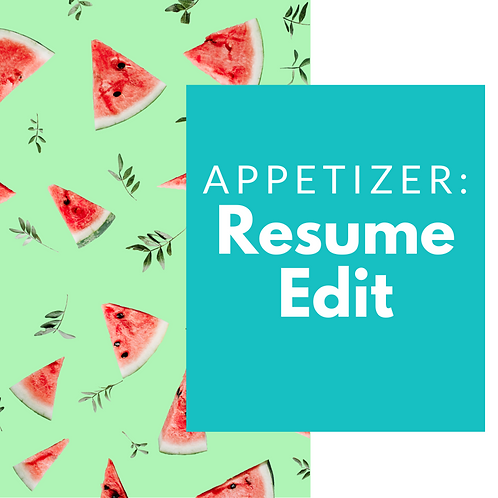 NICEIFY Appetizer: Resume Edit